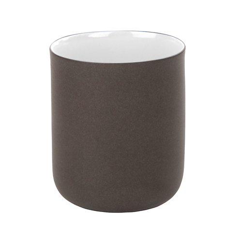 eingefärbtes Porzellan, Becher, Kaffeebecher, Bonechina Porzellan, Grautöne