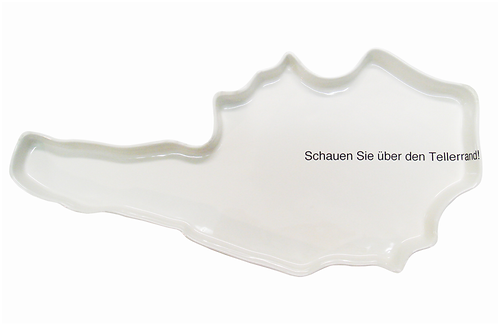 Wien Souvenier, Porzellanteller, Österreichteller, Keramik in Wie, moderene Wien Souveniers, mano design