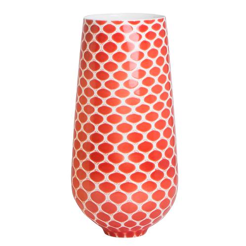 Porzellanvase, Bonechina Porzellan, Vase mit Muster, färbige Vasen, Struktur, Keramik in Wien, mano design