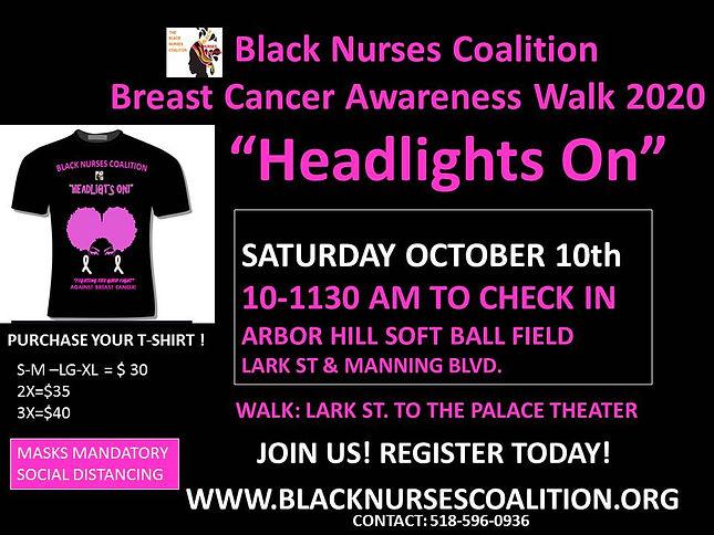 Black Nurses Coalition breast cancer wal