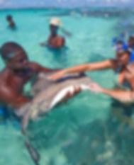Stingray-City-couple-petting-ray-e154593
