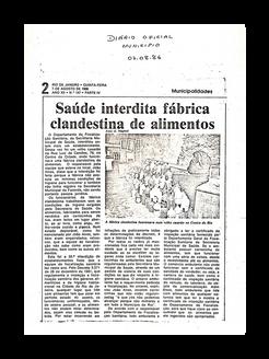 Reportagem Diário Oficial - 1986