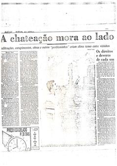Reportagem Jornal do Brasil - 1988