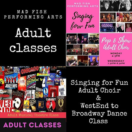 adult singing and dance classes bexhill