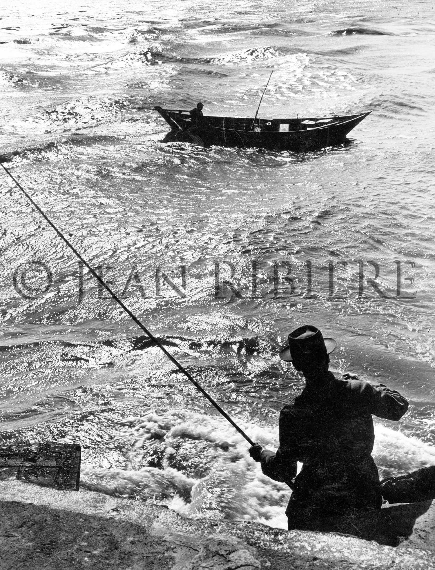 Pêcheur par temps d'orage