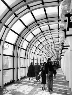 Centre Beaubourg : couloirs vitrés
