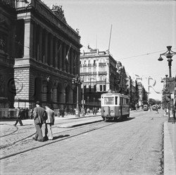 Le tramway sur la Canebière