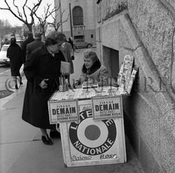 La vendeuse de billets de loterie