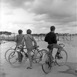 Les 3 jeunes garçons à vélo