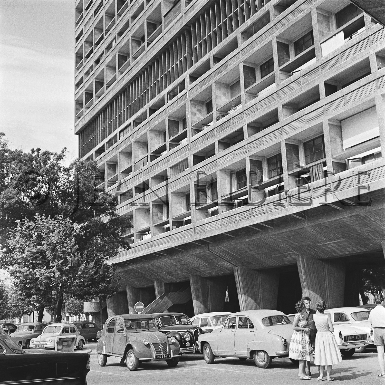 La façade de la Cité Radieuse