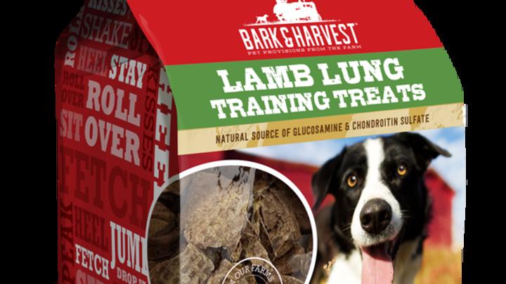 Bark & Harvest Lamb Lung Training Treats for Dogs, 5-oz Bag