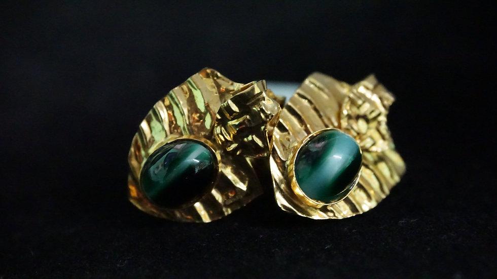 22k Shield Earrings