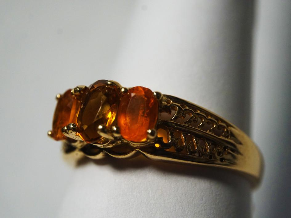 14k ring with Orange Topaz