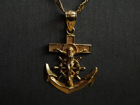 14k Chain and Anchor