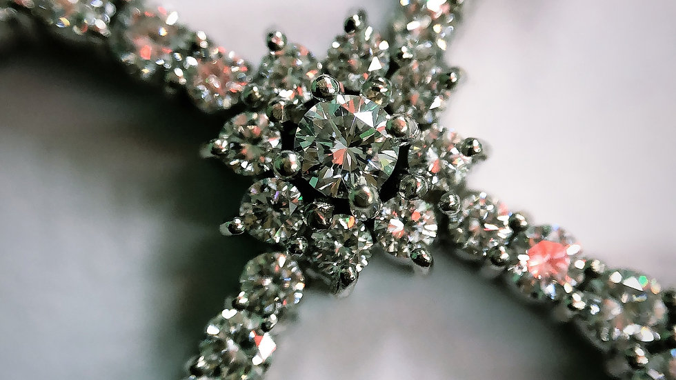 Diamond cross pendant with VS H color Diamonds