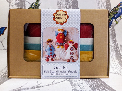Scandinavian Angels , Corinne Lapierre Felt Kit, Craft kit