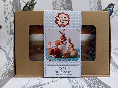 Rabbit Family , Corinne Lapierre Felt Kit, Craft kit
