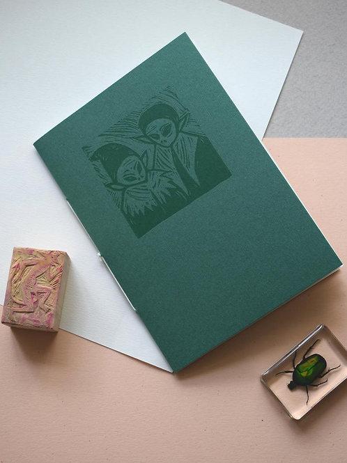 The Green Children of Woolpit - LTD Edition Linocut & Letterpress, Artist Book