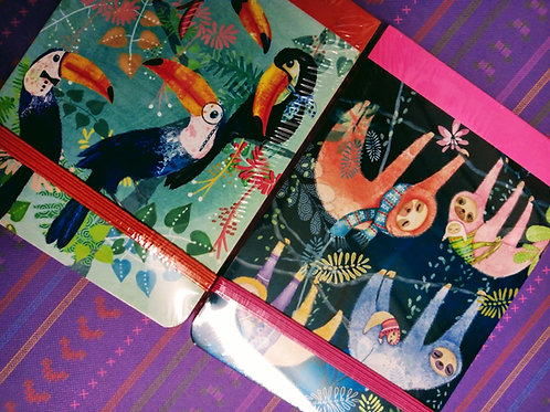 Tropical Notepads, Toucan and Sloth Two pack. Santoro