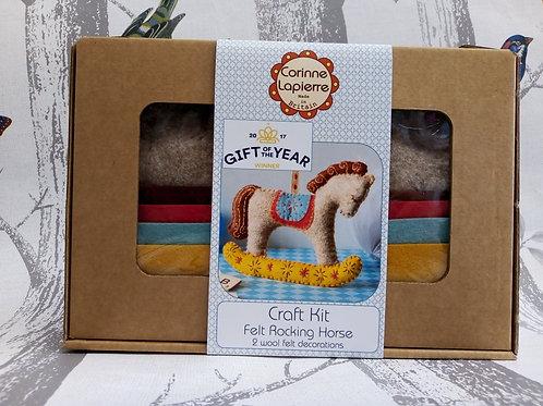 Felt Rocking Horse, Corinne Lapierre Felt Kit, Craft kit