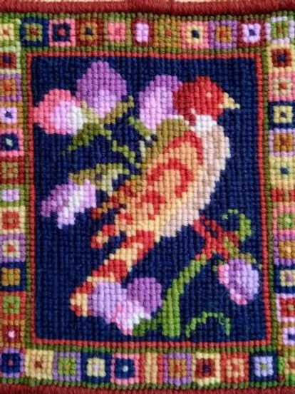 Bird and Sweetpea Tapestry Picture Kit, Bird and Sweetpea Tapestry Cushion Kit,