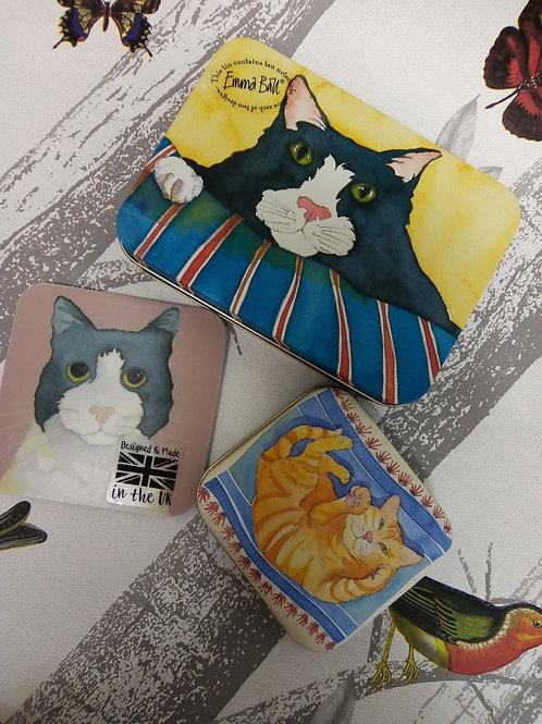 3 Piece Cat Stationery Set, Emma Ball
