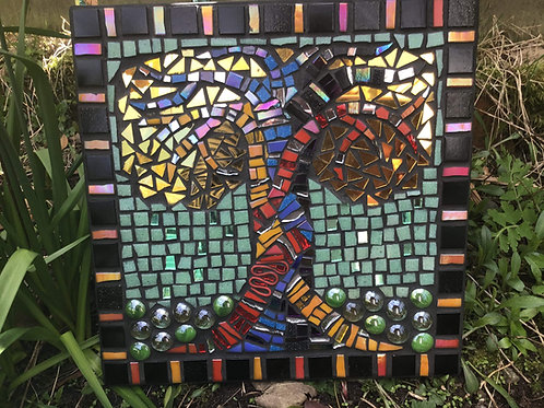 'Growing Together' Mosaic by Shirley Kay, Original Mosaic, Unique Art
