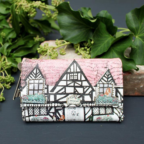Quirky Tudor House Wallet,  Wallet and Zip Purse