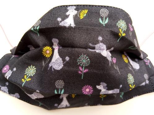 Poodle Facemask TRIPLE LAYER cotton washable.