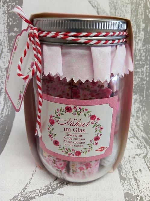 Pink Kleiber Sewing Kit In a Jar