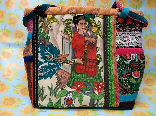 Hand Made by Animal Fayre - Frida Khalo Embroidered Bag (A)