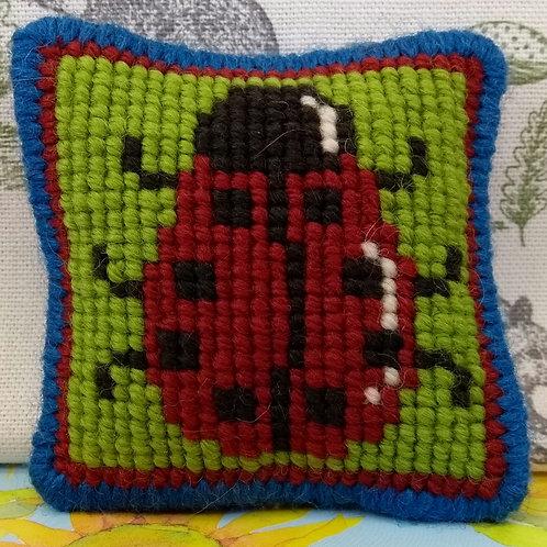 Ladybird Tapestry Pincushion Mini-kit, Ladybird Charted Tapestry Kit
