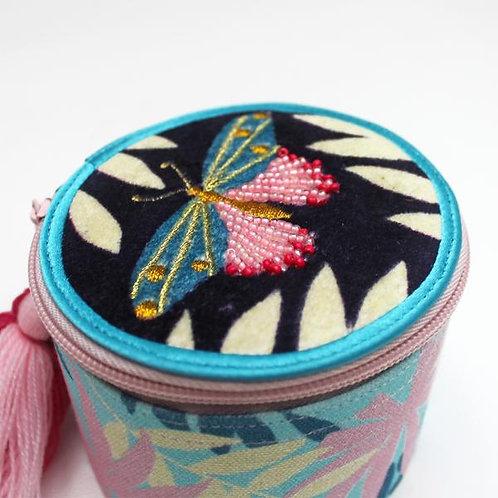 Luxe Beaded Butterfly Jewellery Trinket Box
