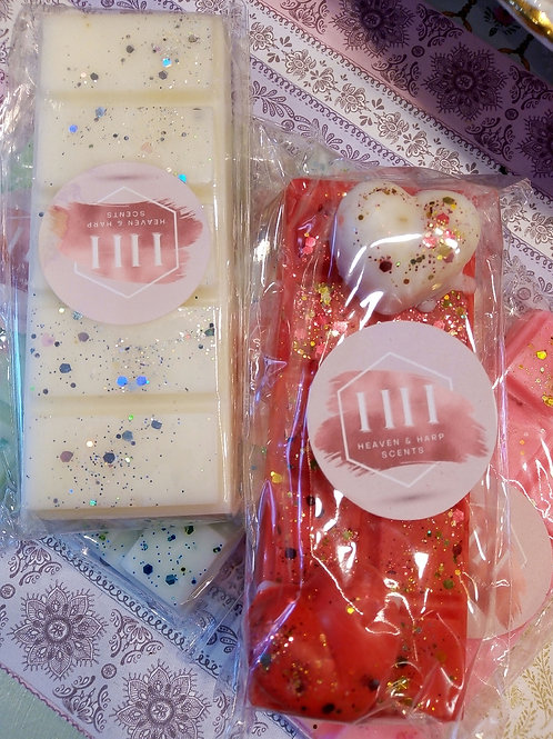 Heaven and Harp Scents Handmade SoyWax Melt Snap Bars, Christmassy Themed Scents