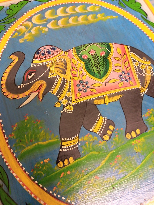 Elephant Jewellery Box with Mirror and Drawer, Handpainted Box