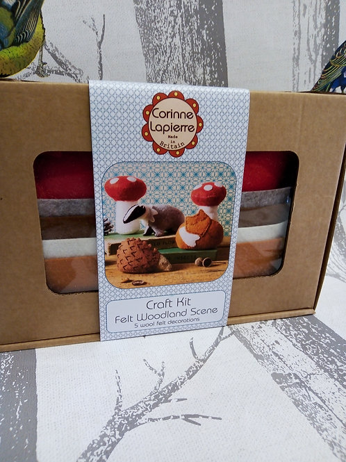 Fox, Badger, Hedgehog and Toadstools , Corinne Lapierre Felt Kit, Craft kit