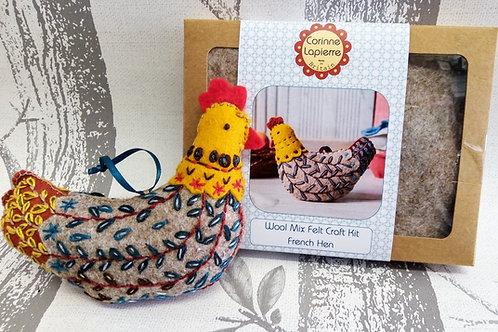 French Hen, Corinne Lapierre Felt Kit, Craft kit