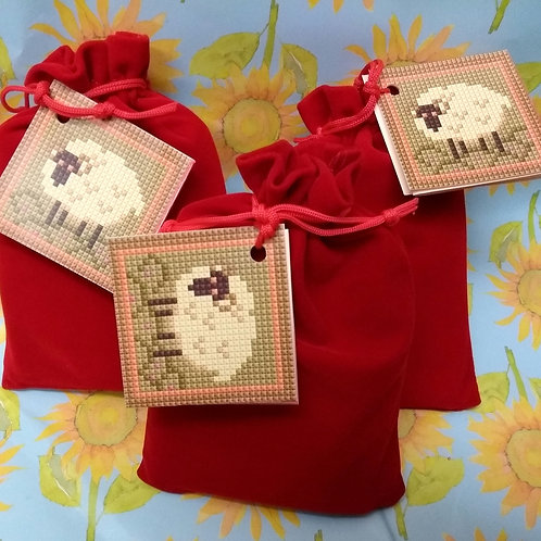 Sheep Tapestry Pin Cushion Kit, Sheep Tapestry Picture,Sheep Charted Needlepoint