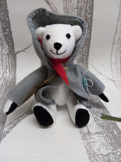 Snowy the Polar Bear, The Lockdown Bears Handmade by Liza in