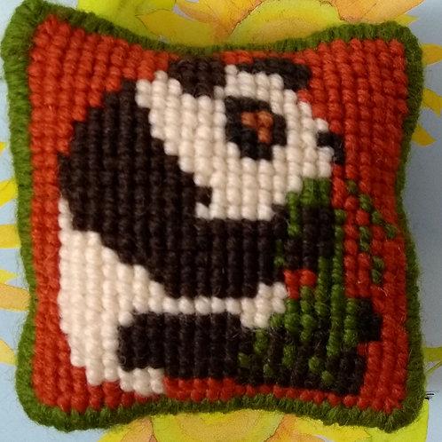 Panda Tapestry Pincushion Mini-Kit, Panda Tapestry Picture Mini-Kit