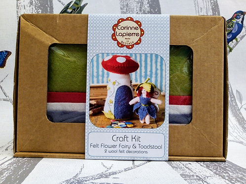 Fairy and Fairy House , Corinne Lapierre Felt Kit, Craft kit