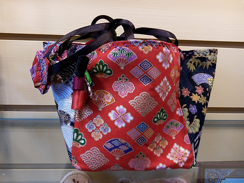 Black and red Japanese Fabric Rice Bag