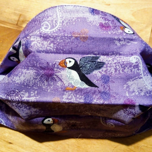 Puffins , Facemask,Fabric mask, Washable, TRIPLE LAYER