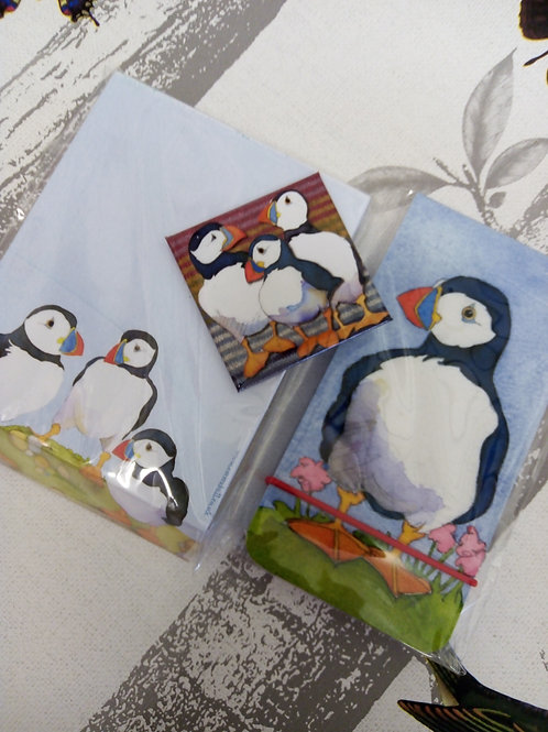 3Piece Puffin Stationery Set, Emma Ball