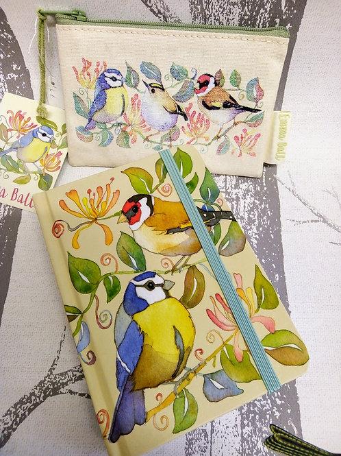 Garden Bird Purse and Garden Bird Notebook Emma Ball Set
