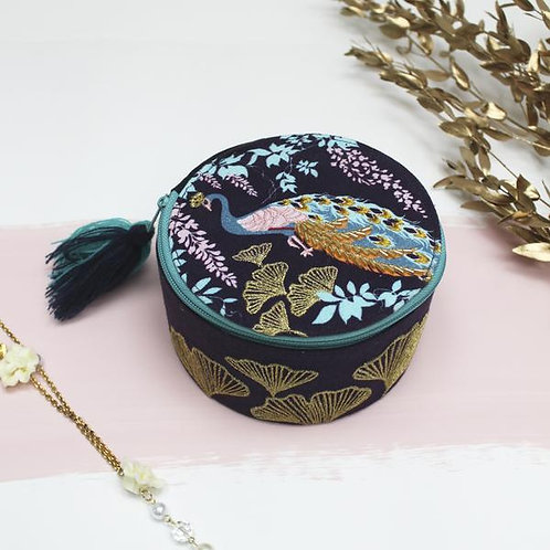 Beautiful Peacock Trinket or Jewellery Box