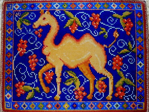 Camel  Tapestry Cushion Kit, Traquair House Chapel Needlework Collection Camel