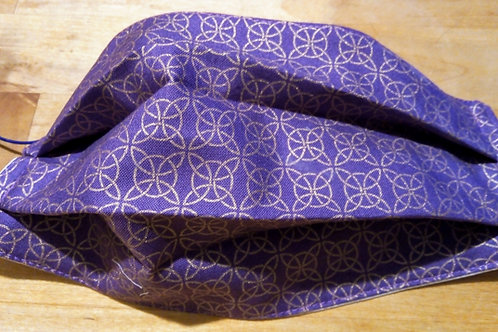 Facemask, Celtic Knotwork. TRIPLE LAYER cotton washable.