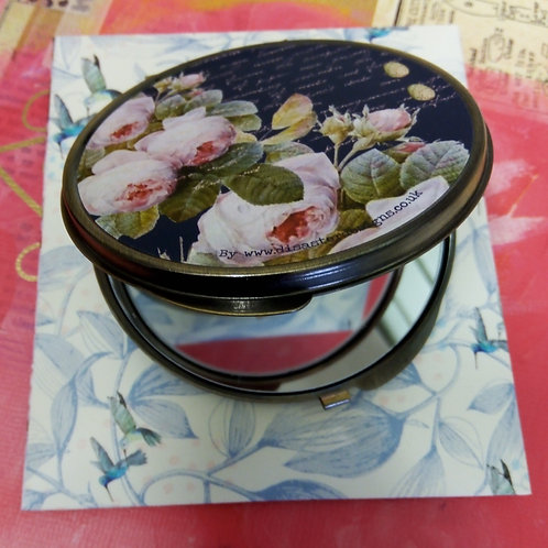 Aviary Compact Mirror, Vintage style Bird Compact Mirror, House of Disaster