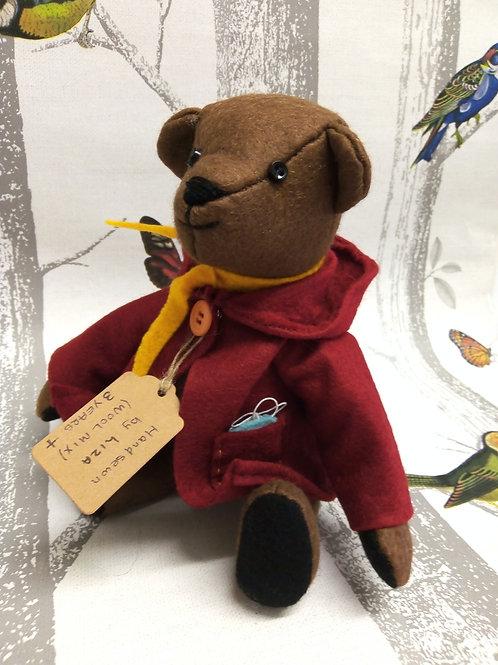 Bertie Brown Bear, The Lockdown Bears Handmade by Liza